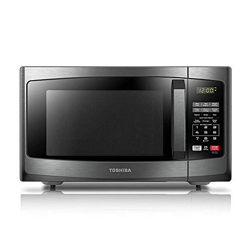 Toshiba EM925A5A-BS Microwave Oven with Sound On/Off ECO Mode and LED Lighting, 0.9 Cu Ft/900W, Black...