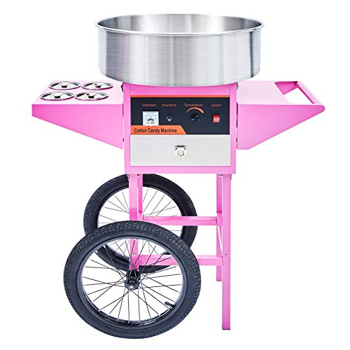 CO-Z Commercial Candy Maker Electric Cotton Candy Machine and Roller Stand, Candy Floss Maker for Various...