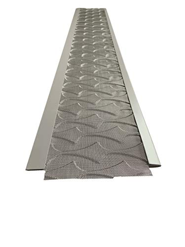 Superior Gutter Guards | NEW Raised Stainless-Steel Screen Technology Gutter Cover, DIY Constructed. Fits any...