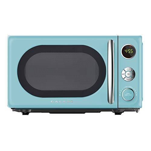 Galanz GLCMKA07BER-07 Retro Microwave Oven, LED Lighting, Pull Handle Design, Child Lock, Bebop Blue, 0.7...