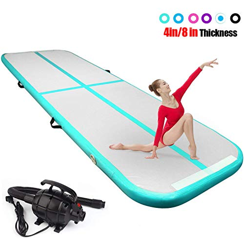 FBSPORT 4 inches Thickness airtrack mat,10ft Tumble Track air mat for Gymnastics Training/Home...