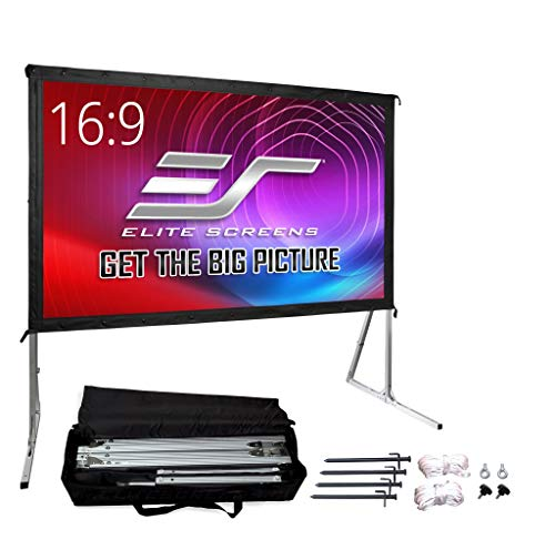 Elite Screens Yard Master 2, 120-inch Outdoor Indoor Projector Screen with Stand 16:9, Fast Easy Snap On...