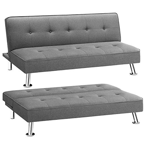 Homall Futon Sofa Bed Modern Collection Convertible Fabric Folding Recliner Lounge Couch for Living Room with...