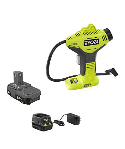 Ryobi P737 18-Volt ONE+ Lithium-Ion Cordless Power Inflator Kit with 1.3 Ah Lithium-Ion Battery,18-Volt...