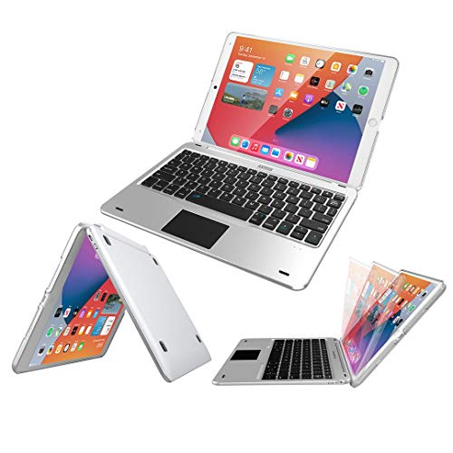 iPad 9th Gen 10.2-inch 2021 Keyboard Case with Track Pad, Arteck Bluetooth Keyboard with Folio Full Protection...