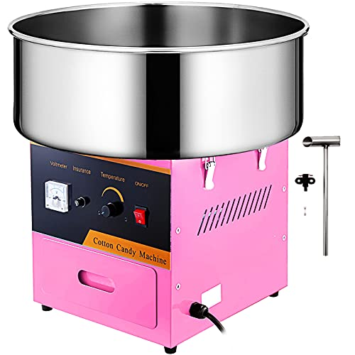 VBENLEM Commercial Cotton Candy Machine Electric Floss Maker 1030W for Family and Various Party, 20.5 Inch,...