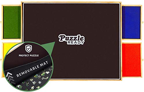Portable Puzzle Board & Storage Table - Quality Jigsaw Puzzle Board, Lightweight, Easy to Store, 4 Color...