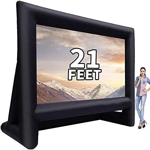 GYUEM 21 feet Inflatable Outdoor Projector Movie Screen - Blow Up Screen for TV & Movies with Blower Portable...