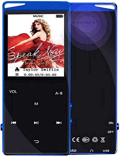 Frehovy 16G MP3 Player with Bluetooth 4.2, Portable Lossless Sound MP3 Music Player with FM Radio Voice...
