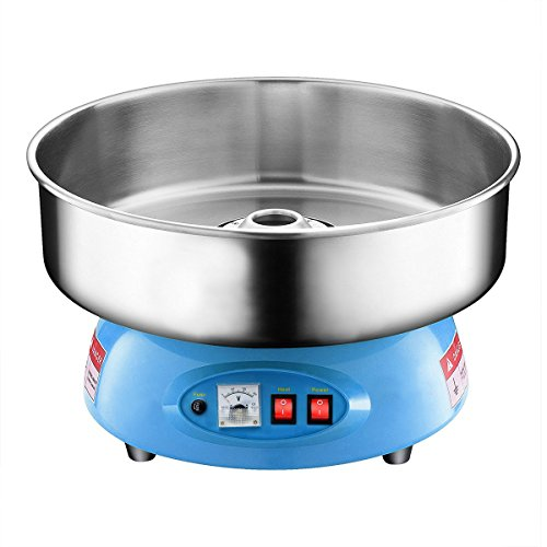 Partyhut Compact Commercial Cotton Candy Machine Party Candy Floss Maker Blue
