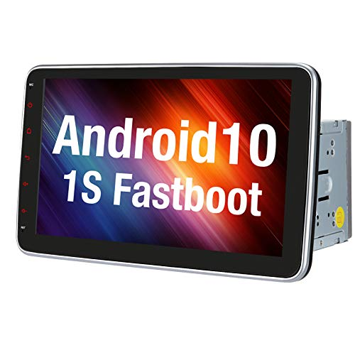 Vanku 10.1' Android 10 Double Din Car Stereo with Fastboot, GPS, WiFi, Support Android Auto, Backup Camera,...