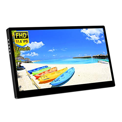 Corkea 11.6 Inch Portable Touchscreen Monitor,1080P IPS Display with USB/HDMI Video Input for Mini PC...