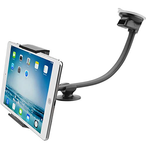 Tablet Car Mount Holder [13' Gooseneck Extension] Long Arm Suction Cup Mount for 7-11 inch Tablet, Cell Phone...