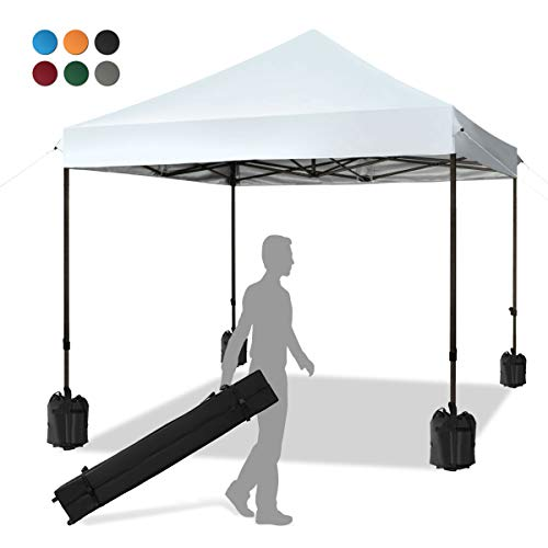 KITADIN Pop up Canopy Tent 10x10 FT Commercial Instant Shelter Outdoor Canopies with Wheeled Carry Bag, 4...
