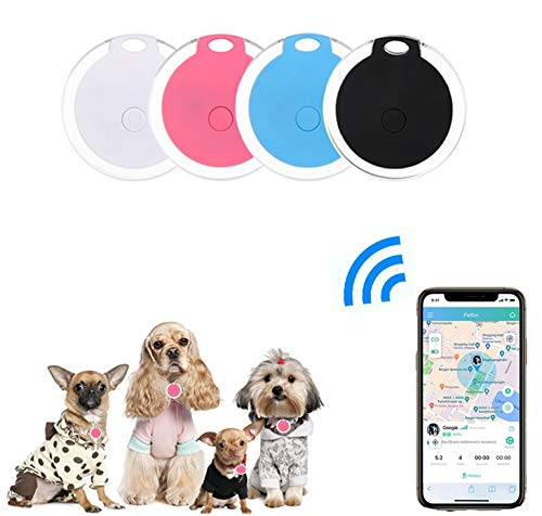4 Pack Smart Key Finder Locator, GPS Tracking Device for Kids Pets Keychain Wallet Luggage Anti-Lost Tag Alarm...