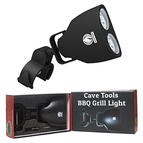 Cave Tools Barbecue Grill Light - Luxurious Gift Box - Upgraded Handle Mount Fits Round & Square Bars on Any...