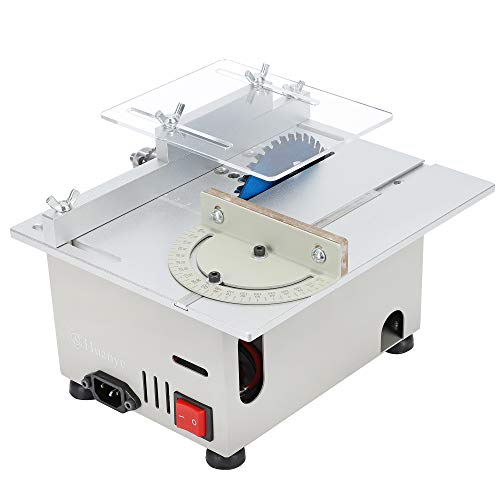 Huanyu Mini Table Saw Upgraded 300W 9000RPM Precision Multifunctional Table Saws Woodworking Lathe Polishing...