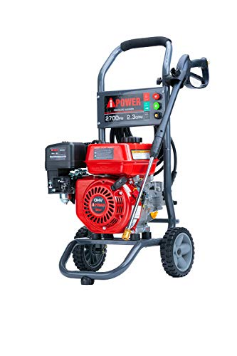 A-iPower APW2700C Gas Powered Pressure Washer 2700 PSI and 2.3 GPM 7HP with 3 Nozzle Attachments, CARB...