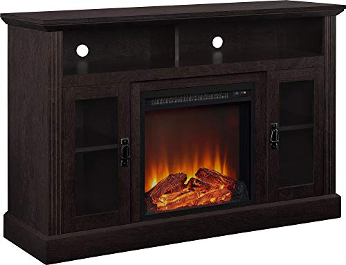 Ameriwood Home Chicago Electric Fireplace TV Console for TVs up to a 50', Espresso