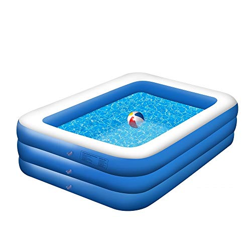 Beletops Inflatable Pool, Family Pool, Inflatable Swimming Pool, 3 Layer 83'x59'x22' Full-Sized Inflatable...