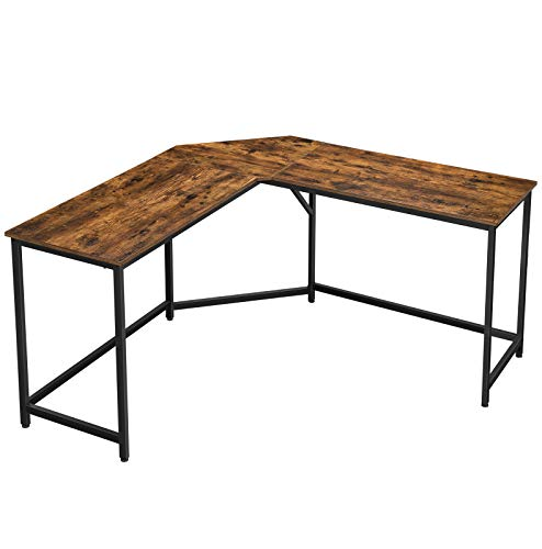 VASAGLE L-Shaped Computer Desk, 58-Inch Corner Desk for Study, Home Office Writing Workstation, Gaming Table,...