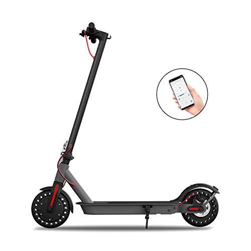 Hiboy S2 Electric Scooter - 8.5' Solid Tires - Up to 17 Miles Long-Range & 18 MPH Portable Folding Commuting...