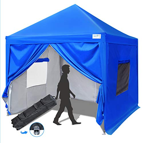 Quictent Privacy 10x10 Ez Pop up Canopy Tent Enclosed Instant Canopy Shelter with Sidewalls and Mesh Windows...