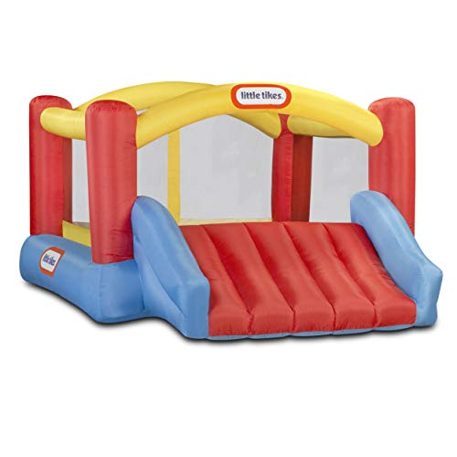 Little Tikes Jump 'n Slide Bouncer - Inflatable Jumper Bounce House Plus Heavy Duty Blower With GFCI, Stakes,...
