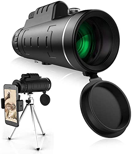 Monocular Telescope, 40X60 High Power Monocular with Smartphone Holder & Tripod, Monocular with Durable and...