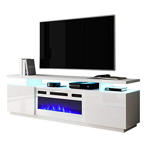 Meble Furniture Eva-KWH Electric Fireplace Modern 71' TV Stand