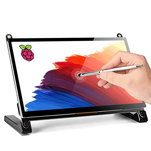 Raspberry Pi Touchscreen Monitor, Upgraded 7'' IPS 1024X600 Dual-Speaker, USB HDMI Portable Monitor Capacitive...