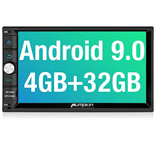 PUMPKIN Android 9.0 Double Din Car Stereo with 4GB RAM, GPS and WiFi, Android Auto, Support Fastboot, Backup...
