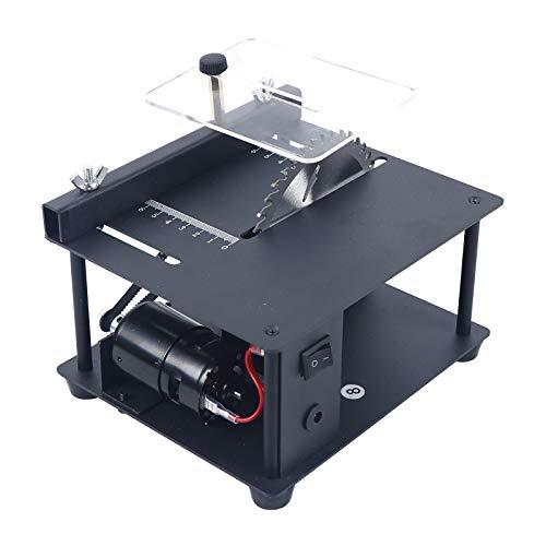 Multi-Functional Table Saw, Miniature Precision Electric Curve Table Saw Mini Desktop Saw 10000/min Household...
