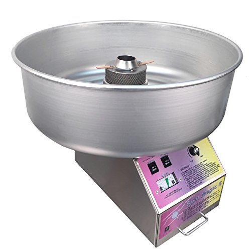 Spin Magic 5 Cotton Candy Machine with Metal Bowl for Professional Concessionaires Requiring Commercial...