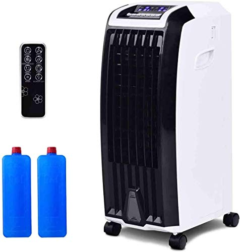GOFLAME Evaporative Cooler, Portable 4-in-1 Air Cooler with Fan & Humidifier, Bladeless Quiet Electric Fan...