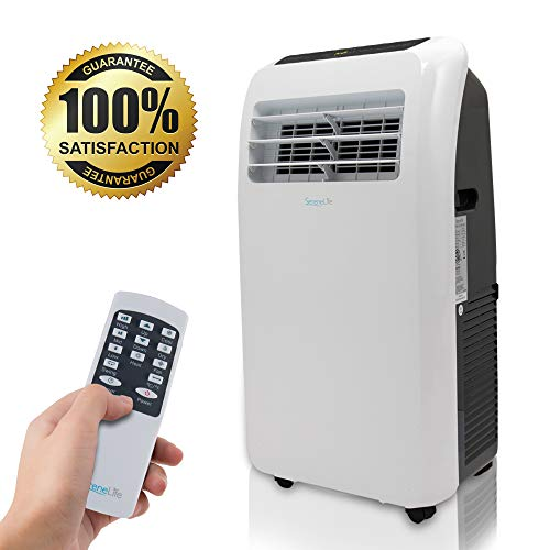 SereneLife 10,000 BTU Portable Air Conditioner + 9,000 BTU Heater, 4-in-1 AC Unit with Built-in Dehumidifier,...
