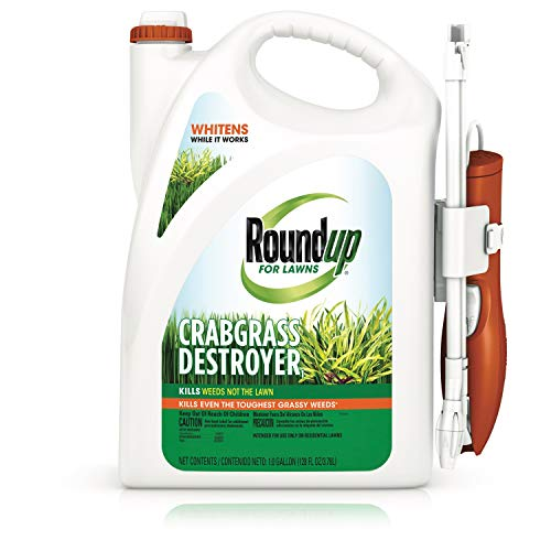 Roundup for Lawns Crabgrass Destroyer1 - Tough Weed Killer, Kills Crabgrass, Apply This Product to Kentucky...