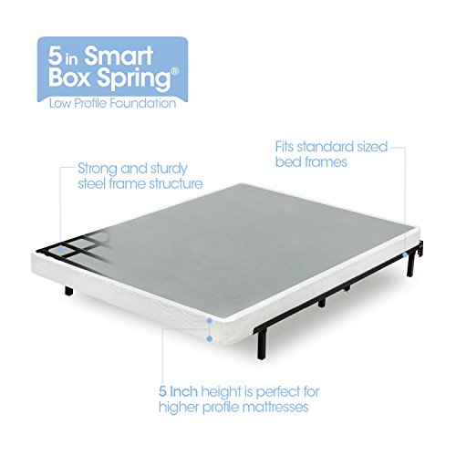 Zinus Armita 5 Inch Smart Box Spring / Mattress Foundation / Built-to-Last Metal Structure / Low Profile /...