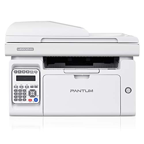 All-in-One Monochrome Wireless Laser Printer with Scanner Copier Fax and ADF, Print at 23PPM in Black and...