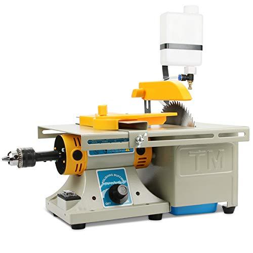 Mini Table Saws DIY Jewelry Lapidary Equipment, 110V Benchtop Buffer Rock Grinder Polishing Machine...