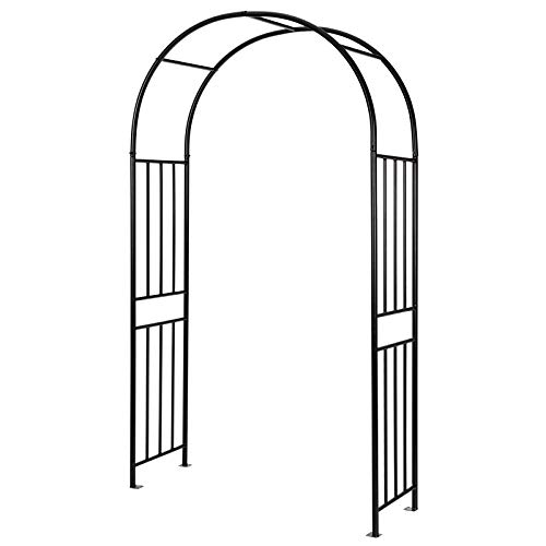 Giantex 7.2Ft Garden Arch, Outdoor Steel Arbor w/Stakes, Decorative Pergola Arbor for Various Climbing Plants,...