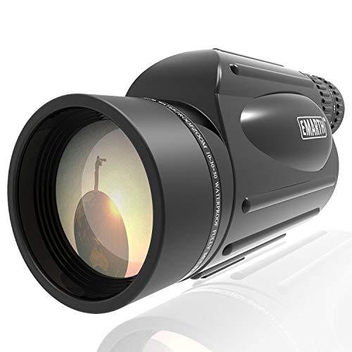Emarth High Power 10-30X50 Zoom Monocular Telescope BAK4 Prism Waterproof Fog Proof Men Gifts for Bird...