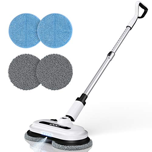 Cordless Electric Spin Mop, Floor Cleaner with Built-in 300ml Water Tank, Polisher for Hard Wood & Tile &...