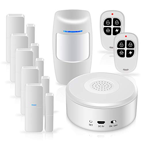 Smart Security System WiFi Alarm System Kit Wireless with APP Push and Calling Alarms DIY No Monthly Fee for...