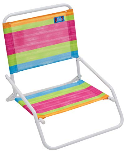 RIO Gear Beach Wave 1-Position Beach Folding Sand Chair - Summer Stripes , 8 pounds