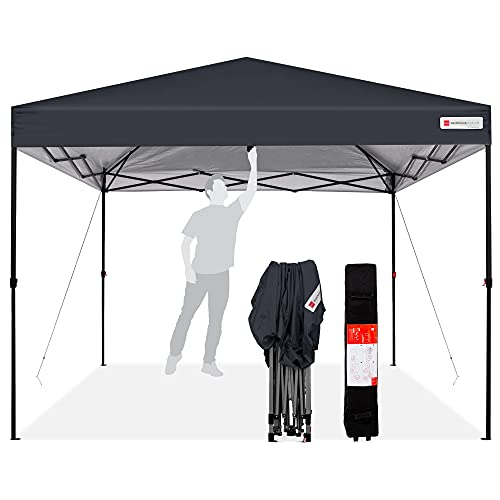 Best Choice Products 10x10ft 1-Person Setup Pop Up Canopy Tent Instant Portable Shelter w/ 1-Button Push,...