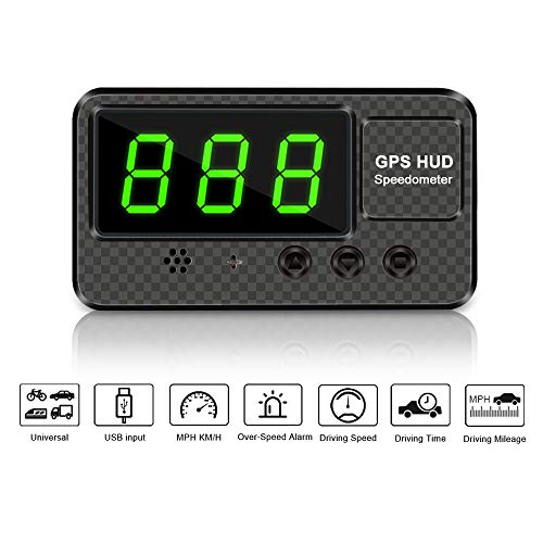 VJOYCAR C60s Digital GPS Speedometer Car Hud Head Up Display with Speeding Alert Fatigue Alarm, 100% Universal...