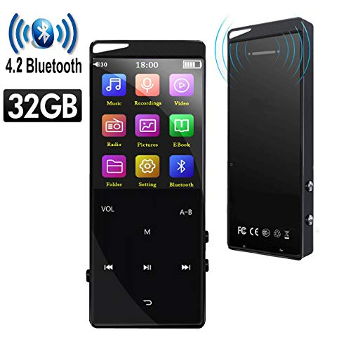 Frehovy 32GB MP3 Player with 4.2 Bluetooth, Portable Lossless Sound MP3 Music Player with FM Radio Voice...