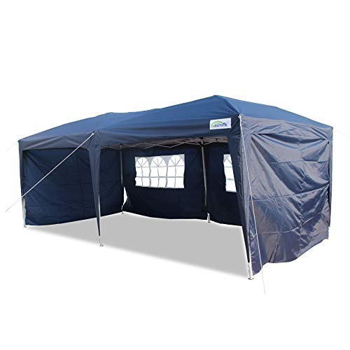 GOUTIME 10x20 Feet Easy Pop Up Canopy Instant Tent Shelter with 4Pcs 10Ft Removable Sidewalls and Wheeled Bag...