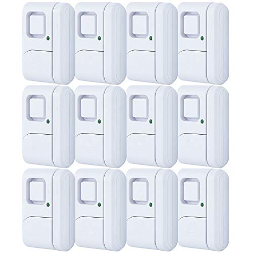 GE Personal Security Window/Door, 12-Pack, DIY Protection, Burglar Alert, Magnetic Sensor, Off/Chime/Alarm,...